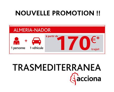 Almeria Nador pas cher à 170 euros